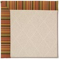 Capel Rugs Creative Concepts White Wicker - Tuscan Stripe Adobe (825) Octagon 6