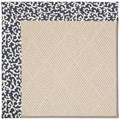 Capel Rugs Creative Concepts White Wicker - Coral Cascade Navy (450) Octagon 8
