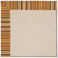 Capel Rugs Creative Concepts White Wicker - Vera Cruz Samba (735) Octagon 8
