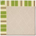 Capel Rugs Creative Concepts White Wicker - Tux Stripe Green (214) Octagon 10