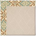 Capel Rugs Creative Concepts White Wicker - Shoreham Spray (410) Octagon 10