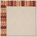 Capel Rugs Creative Concepts White Wicker - Java Journey Henna (580) Octagon 10