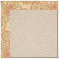 Capel Rugs Creative Concepts White Wicker - Paddock Shawl Persimmon (810) Octagon 10