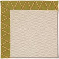 Capel Rugs Creative Concepts White Wicker - Bamboo Tea Leaf (236) Octagon 12