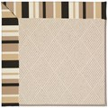 Capel Rugs Creative Concepts White Wicker - Granite Stripe (335) Octagon 12