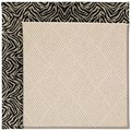 Capel Rugs Creative Concepts White Wicker - Wild Thing Onyx (396) Octagon 12