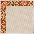 Capel Rugs Creative Concepts White Wicker - Shoreham Brick (800) Octagon 12