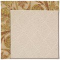 Capel Rugs Creative Concepts White Wicker - Cayo Vista Sand (710) Rectangle 3