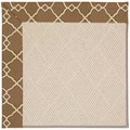 Capel Rugs Creative Concepts White Wicker - Arden Chocolate (746) Rectangle 4