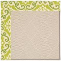 Capel Rugs Creative Concepts White Wicker - Shoreham Kiwi (220) Rectangle 4