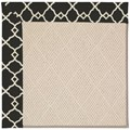 Capel Rugs Creative Concepts White Wicker - Arden Black (346) Rectangle 5