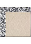 Capel Rugs Creative Concepts White Wicker - Coral Cascade Navy (450) Rectangle 5' x 8' Area Rug