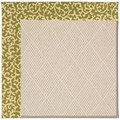 Capel Rugs Creative Concepts White Wicker - Coral Cascade Avocado (225) Rectangle 8