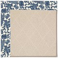 Capel Rugs Creative Concepts White Wicker - Batik Indigo Blue (415) Rectangle 12