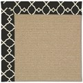 Capel Rugs Creative Concepts Sisal - Arden Black (346) Octagon 6
