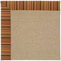 Capel Rugs Creative Concepts Sisal - Tuscan Stripe Adobe (825) Octagon 6
