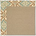 Capel Rugs Creative Concepts Sisal - Shoreham Spray (410) Octagon 10
