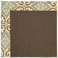 Capel Rugs Creative Concepts Java Sisal - Shoreham Spray (410) Octagon 10