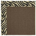 Capel Rugs Creative Concepts Java Sisal - Wild Thing Onyx (396) Octagon 12