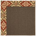 Capel Rugs Creative Concepts Java Sisal - Shoreham Brick (800) Octagon 12
