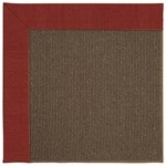 Capel Rugs Creative Concepts Java Sisal - Canvas Cherry (537) Rectangle 6' x 6' Area Rug