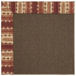 Capel Rugs Creative Concepts Java Sisal - Java Journey Henna (580) Rectangle 6' x 6' Area Rug