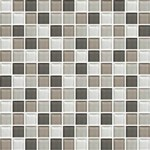 "Daltile Color Wave Glass Mosaic 1"" x 1"" : Soft Cashmere CW2211MS1P"