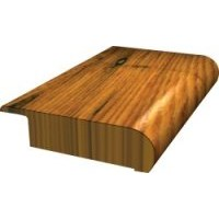 "Shaw Green Edge Epic:  Symphonic Red Oak Leather Overlap Stair Nose - 78"" Long"