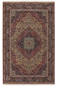 Nourison Collection Library Alexandria (AL04-RED) Round 7'5