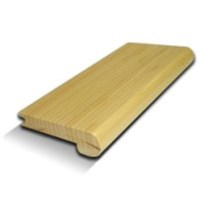 "USFloors Natural Bamboo Wovens Collection: Stair Nose Charcoal - 72"" Long"