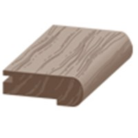 "Columbia Intuition with Uniclic: Overlap Stair Nose Natural Walnut - 84"" Long"