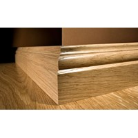 "Kahrs Original American Naturals Collection: Wall Base Jatoba Brasilia - 96"" Long"