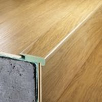 "Quick-Step Eligna:  Stair Nose Brazilian Cherry Double Plank - 94"" Long"
