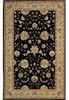 Capel Rugs Creative Concepts Cane Wicker - Canvas Black (314) Octagon 6' x 6' Area Rug