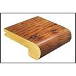 "Mannington Trade Winds Collection:  Canelo Teak Plank Natual Stair Nose - 84"" Long"