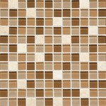 "Daltile Mosaic Traditions: Caramelo 1"" x 1"" Glass Mosaic Tile BP95-11MS1P"
