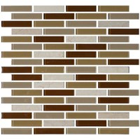 "Daltile Mosaic Traditions: Caramelo 5/8"" x 3"" Glass Brick-joint Mosaic Tile BP95-583BJMS1P"