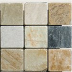 "MS International Golden White Quartzite 4x4 Mosaic 12"" x 12"" : SMOT-GWQ-4x4-T"