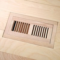 "LW Mountain Pre-Finished White Oak: Cashmere Flush Mount 4"" x 10"" Vent"