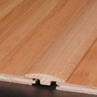 "Bruce Fulton Plank Oak: T-mold Winter White - 78"" Long"