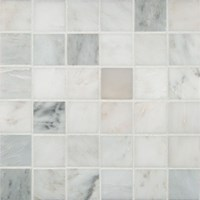 "MS International Arabescato Carrara Marble Mosaic 12"" x 12"" : SMOT-ARA-2X2-H"