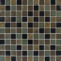 "MS International California Gold Glass Stone Blend Mosaic 12"" x 12"" : SMOT-SGLS-CGS8MM"
