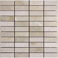 "MS International Crema Marfil Marble Mosaic 12"" x 12"" : SMOT-CREM-1X3-P"