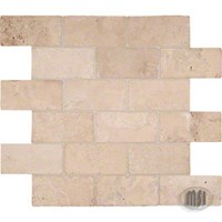 "MS International Durango Cream Brick Pattern Travertine Mosaic 12"" x 12"" : SMOT-BRICK-DUR"