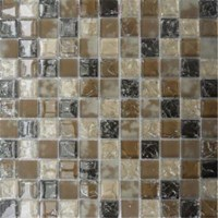 "MS International Pacific Dunes Blend Glass Mosaic 12"" x 12"" : SMOT-GLSB-CR-PD8MM"