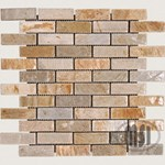 "MS International Golden White Quartzite Mosaic 12"" x 12"" : SMOT-GWQ-BRICK"
