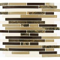"MS International Royal Oaks Blend Interlocking Pattern Glass Mosaic 12"" x 12"" : THDWG-SGL-ROBI-8MM"