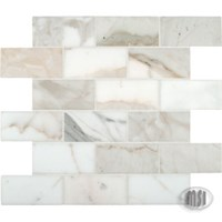 "MS International Calacatta Gold Marble Mosaic 12"" x 12"" : SMOT-CALAGOLD-2X4P"