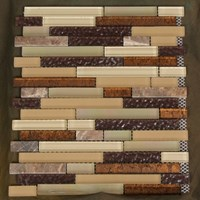 "Glass Tile & Stone Stone Brick Series Mosaic 12"" x 12"" : AL708"