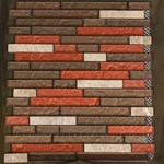 "Glass Tile & Stone Stone Brick Series Mosaic 12"" x 12"" : AL2048"